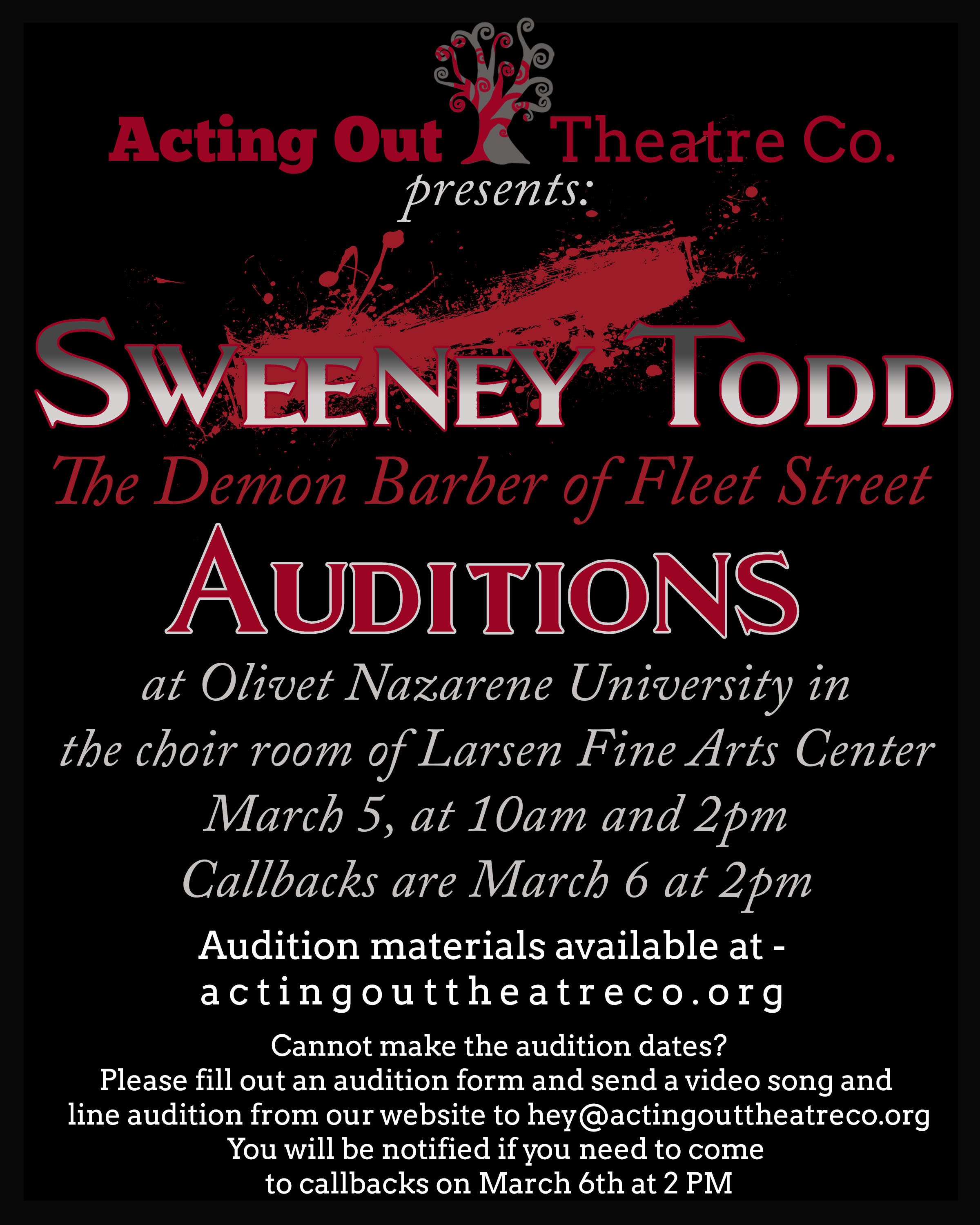 sweeney audition poster